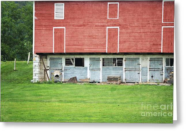 Red Barn Prints Greeting Cards - Red Barn Close Up Greeting Card by Andrea Hazel Ihlefeld