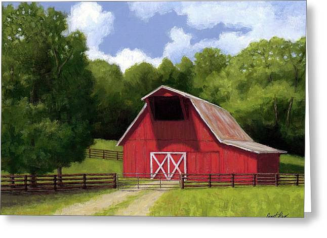 Red Barn In Franklin Tn Greeting Card by Janet King
