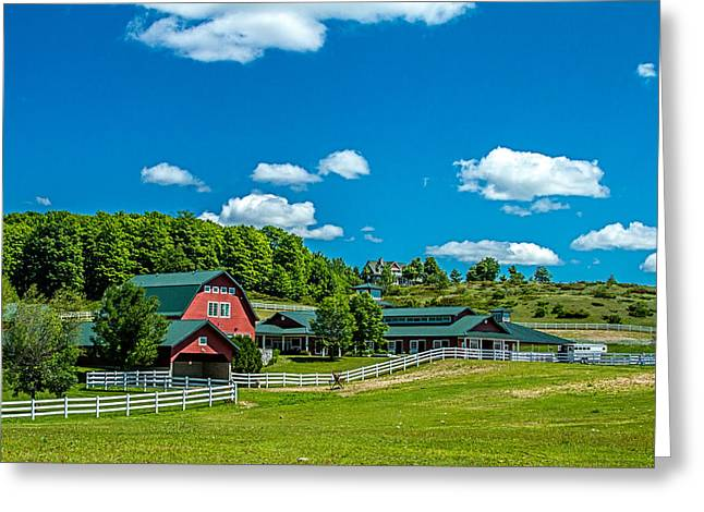 Bill Gallagher Greeting Cards - Red Barn On Hoyt Road Greeting Card by Bill Gallagher