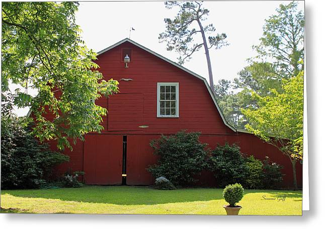 Red Barn Greeting Card by Suzanne Gaff