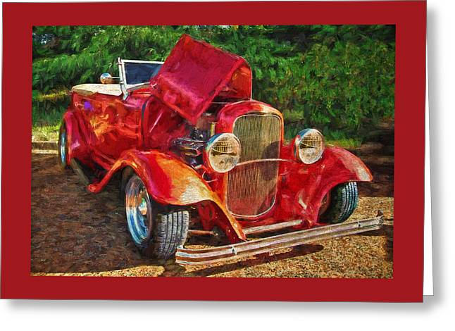 Automotive Greeting Cards - Red Bell Greeting Card by Thom Zehrfeld