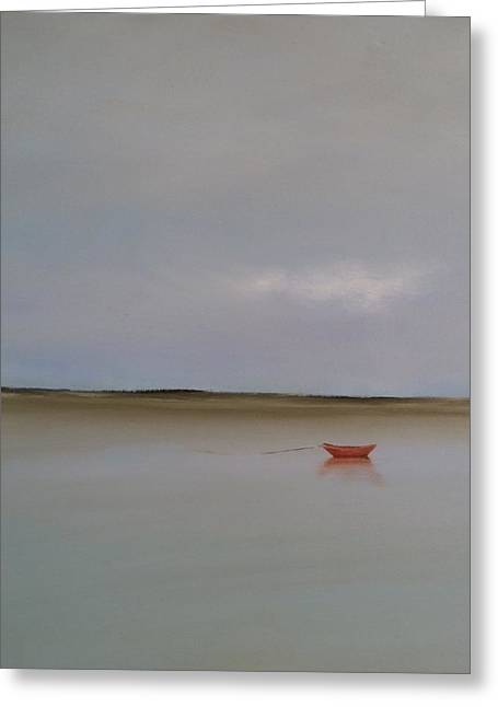 Cape Cod Greeting Cards - Red Boat Greeting Card by Michael Marrinan