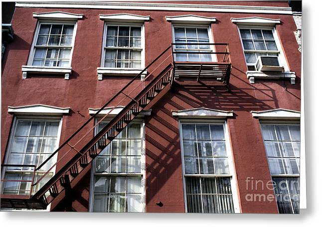 Photo Art Gallery Greeting Cards - Red Brick in New Orleans Greeting Card by John Rizzuto