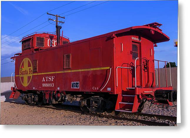 Red Caboose  Greeting Card by Garry Gay