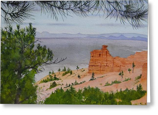 Garfield County Greeting Cards - Red Canyon Greeting Card by Doug Goodale