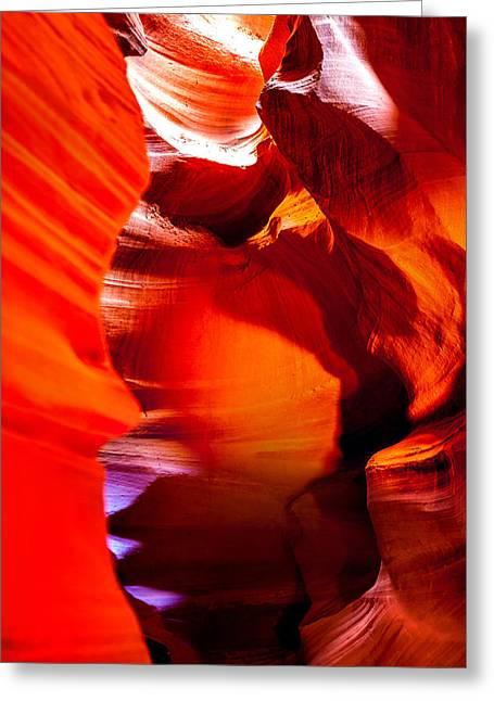 Red Canyon Walls Greeting Card by Az Jackson