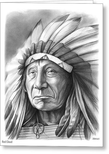 Red Cloud Greeting Card by Greg Joens