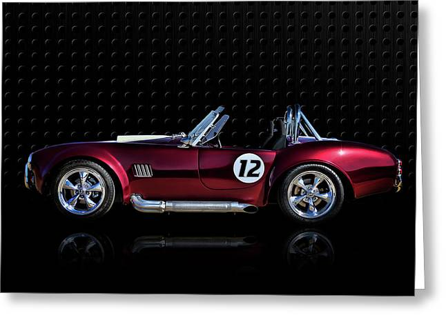 Sportscar Greeting Cards - Red Cobra Greeting Card by Douglas Pittman