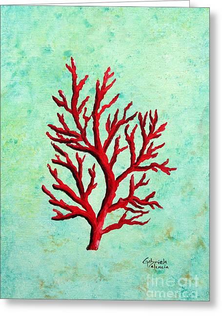 Red Coral Greeting Cards - Red Coral Greeting Card by Gabriela Valencia