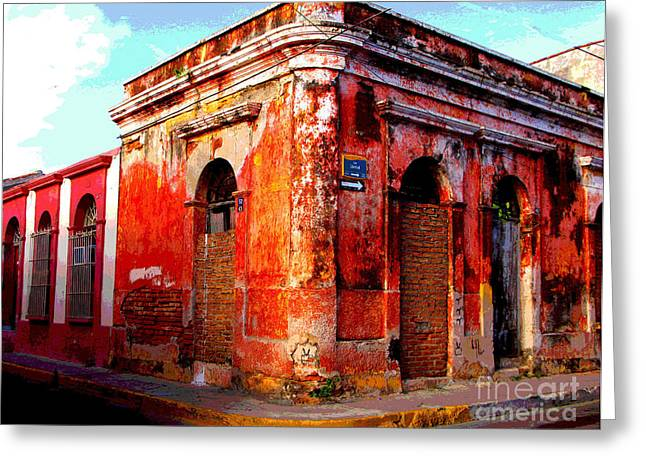 Portal Greeting Cards - Red Corner by Darian Day Greeting Card by Olden Mexico