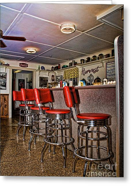 Red Cottage Restaurant Greeting Card by Edward Sobuta