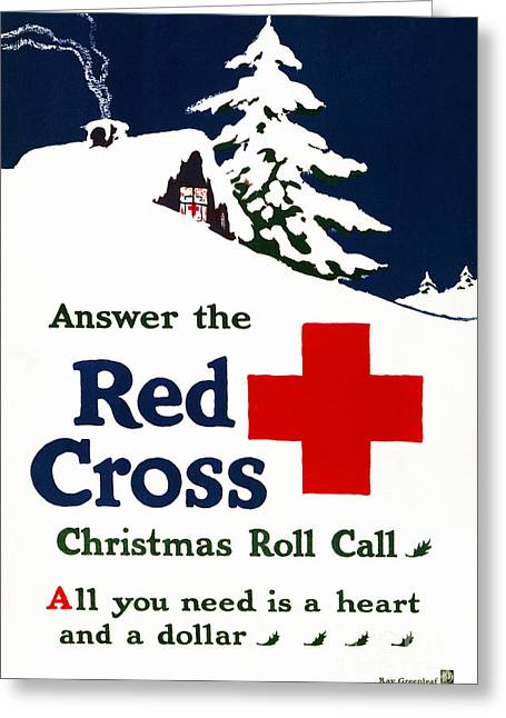 Red Cross Poster, C1915 Greeting Card by Granger