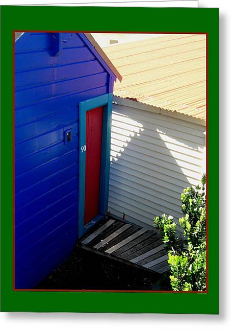 Spring Greeting Cards - Red Door Blue 2 Greeting Card by Gretchen Wrede