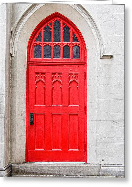 Christopher Holmes Greeting Cards - Red Door Greeting Card by Christopher Holmes