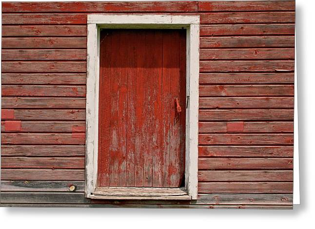 Old Door Greeting Cards - Red Door Greeting Card by Odd Jeppesen
