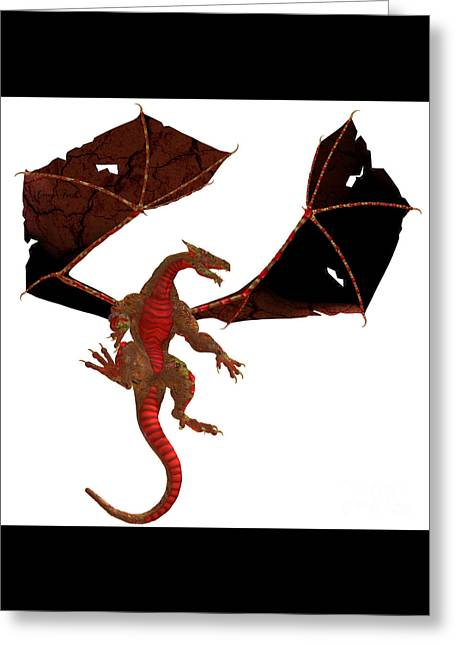 Fantasy Creatures Greeting Cards - Red Dragon Greeting Card by Corey Ford