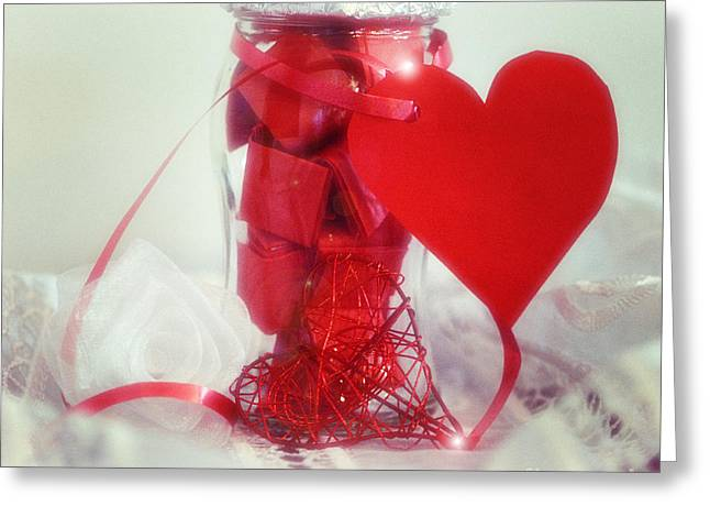 Still Life Photography Greeting Cards - Red Dream Greeting Card by SK Pfphotography