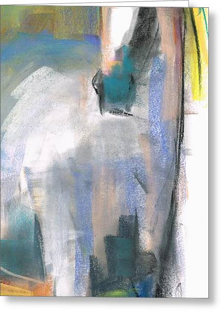 Abstract Equine Greeting Cards - Red Ears Greeting Card by Frances Marino