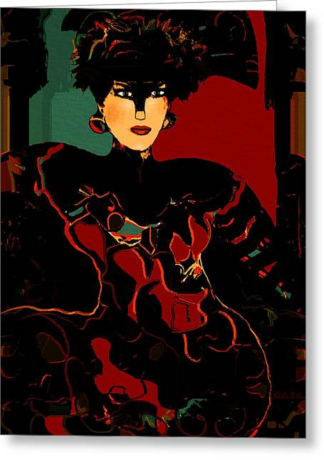 Tasteful Art Mixed Media Greeting Cards - Red Elegance Greeting Card by Natalie Holland