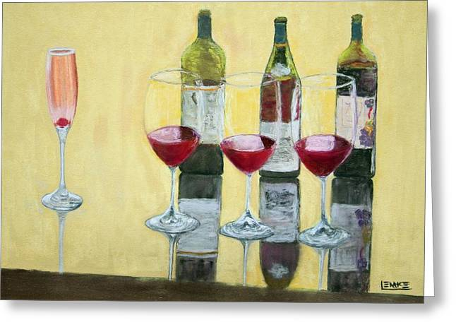Wine-glass Greeting Cards - Red Flight Greeting Card by Steven Lemke
