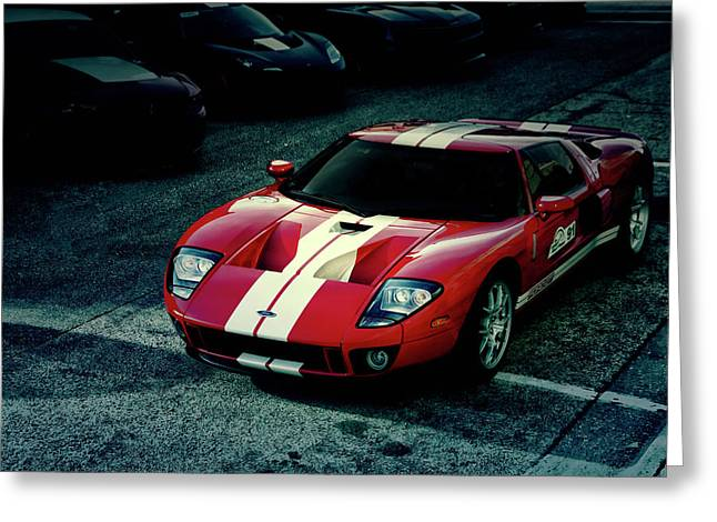 Red Ford Gt Greeting Card by Joel Witmeyer