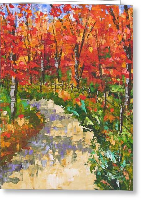 South Of France Greeting Cards - Red forest Greeting Card by Frederic Payet