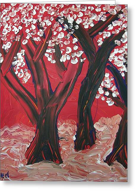 Joshua Redman Greeting Cards - Red Forest Greeting Card by Joshua Redman