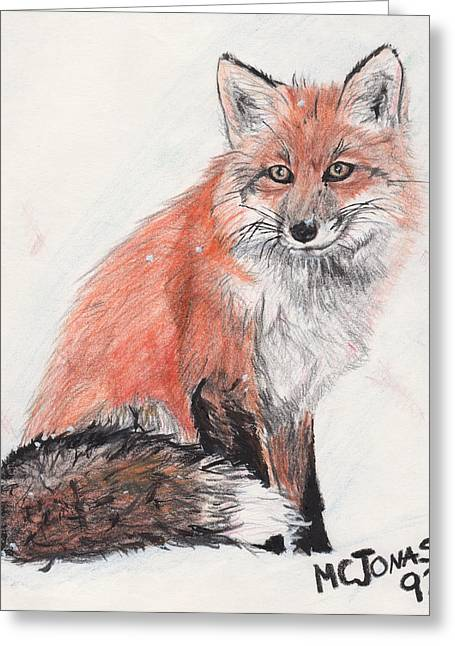 Marqueta Graham Greeting Cards - Red Fox in Snow Greeting Card by Marqueta Graham