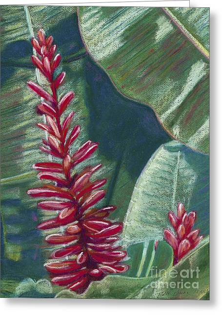 Exotic Pastels Greeting Cards - Red Ginger Greeting Card by Patti Bruce - Printscapes
