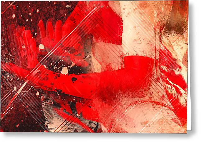 Red Gloves Greeting Card by Svetlana Sewell