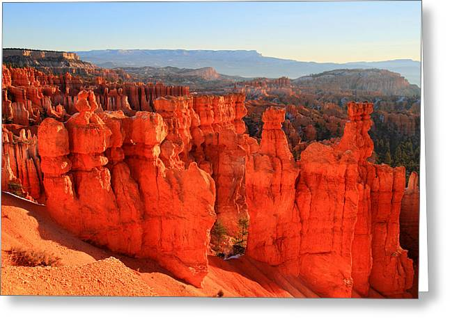 Red Glow In Bryce Canyon Greeting Card by Pierre Leclerc Photography