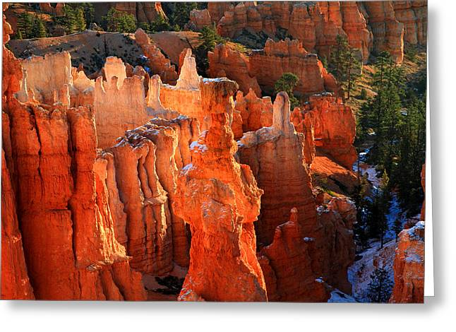 Red Glow On Thor's Hammer In Bryce Canyon Greeting Card by Pierre Leclerc Photography