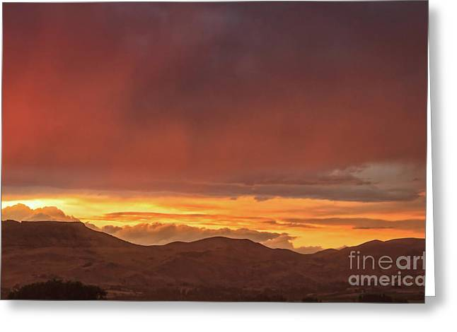 Red Glow Over Little Butte Greeting Card by Robert Bales
