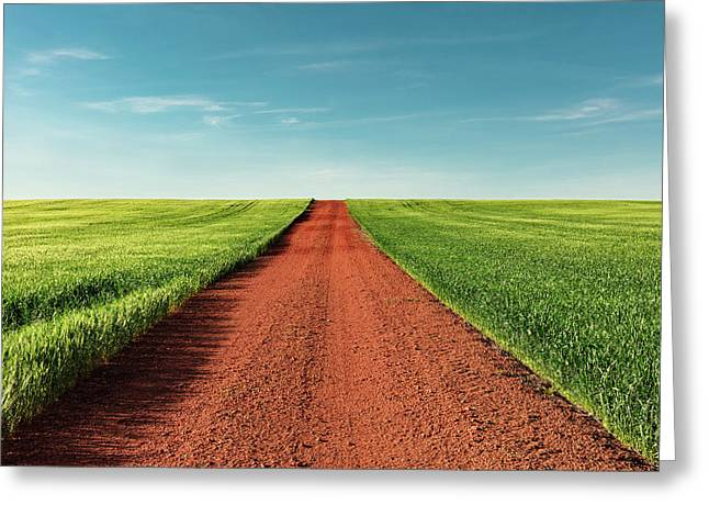 Red Gravel Road Greeting Card by Todd Klassy