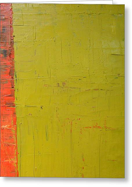 Tangerine Greeting Cards - Red Green Yellow Greeting Card by Michelle Calkins