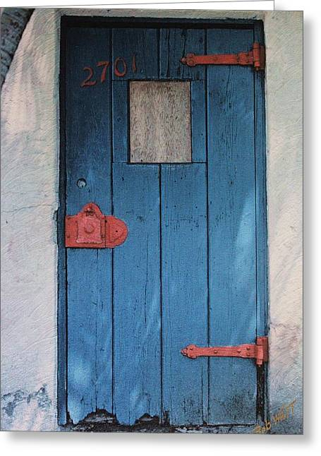 Red Hinges Greeting Card by Bob Whitt