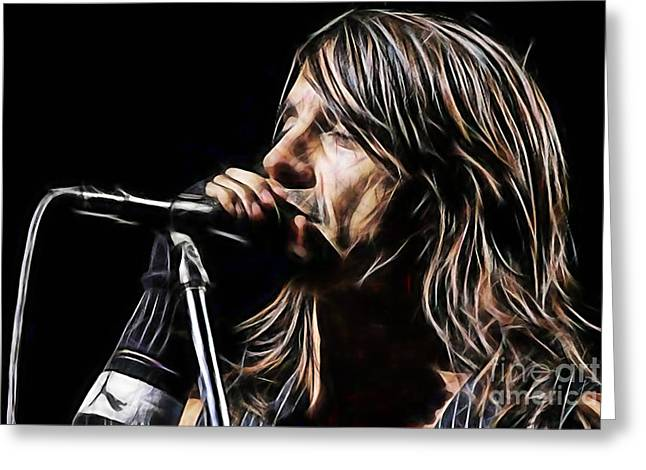 Red Hot Chili Peppers Greeting Cards - Red Hot Chili Peppers Anthony Kiedis Greeting Card by Marvin Blaine