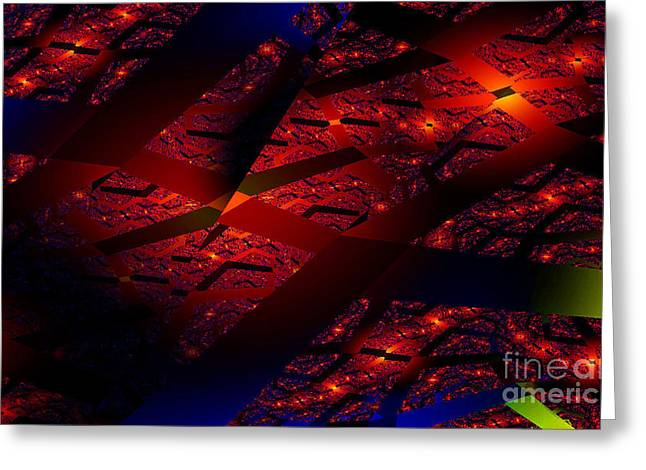 Bruster Greeting Cards - Red Hot Confetti Greeting Card by Clayton Bruster