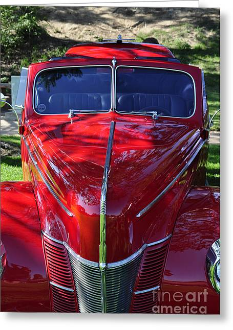 Bruster Greeting Cards - Red Hot Rod Greeting Card by Clayton Bruster