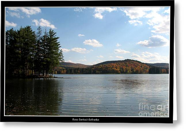 Santuci Greeting Cards - Red House Lake Allegany State Park NY Greeting Card by Rose Santuci-Sofranko