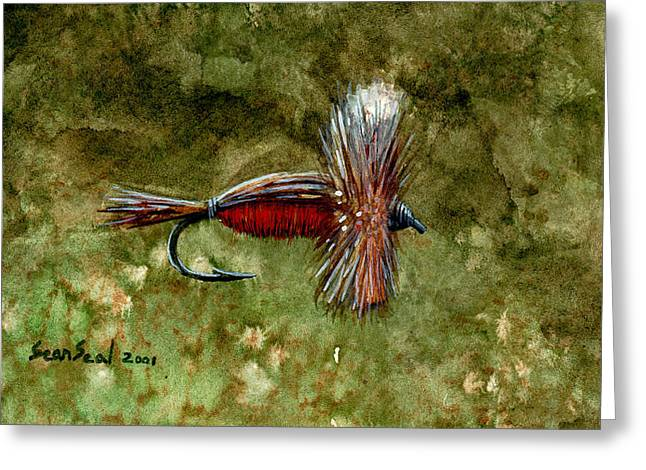 Red Humpy Greeting Card by Sean Seal