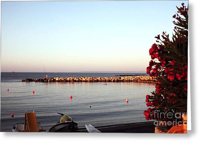 Cypriotic Greeting Cards - Red in the Morning Greeting Card by John Rizzuto