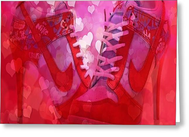 Footwear Love Greeting Cards - Red Is My Colour Greeting Card by Clive Littin