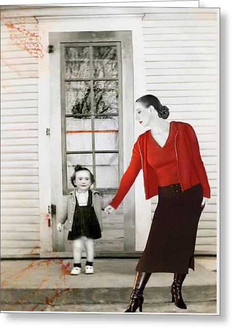 Red Jane - Self Portrait Greeting Card by Jaeda DeWalt