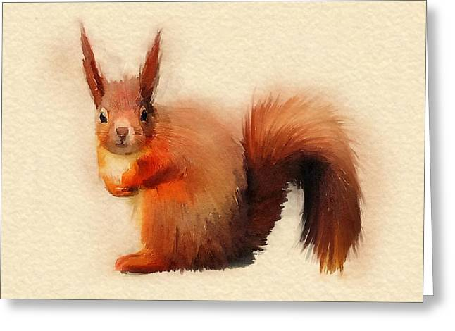 Red Greeting Card by John Edwards