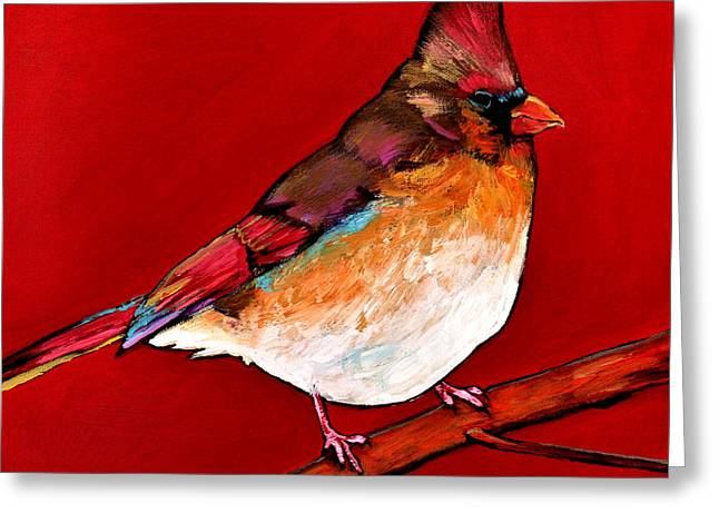 Tails Paintings Greeting Cards - Red Lady Greeting Card by Johnathan Harris
