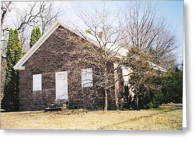 Quaker Greeting Cards - Red Land Quaker House Greeting Card by Darlene Prowell