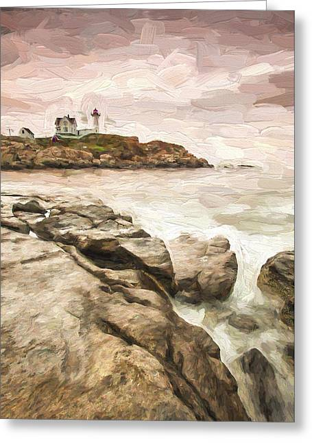Red Lighthouse II Greeting Card by Jon Glaser