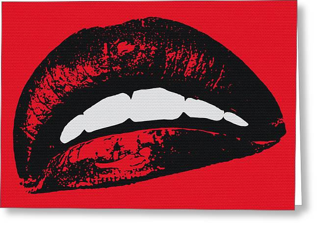 Red Lips Greeting Card by Edouard Coleman