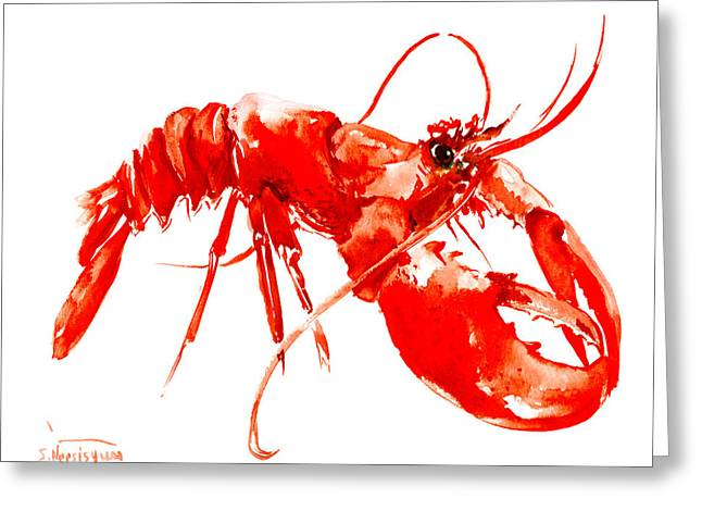 Red Lobster Greeting Card by Suren Nersisyan